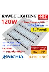 โคมไฟ LED CANOPY-LIGHT OEM 120W - ULTRA BRIGHT **ปั๊มน้ำมัน - คุณภาพระดับพรีเมียม