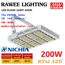 โคมไฟ LED FLOOD-LIGHT OEM 200W - ULTRA BRIGHT - สเปคจัดเต็มแบบอุตสาหกรรม