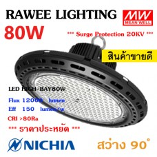 โคมไฟ LED HIGH-BAY OEM 80W - **UFO - คุณภาพระดับพรีเมียม