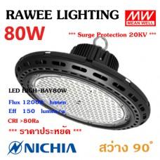 โคมไฟ LED HIGH-BAY OEM 80W - **UFO
