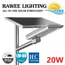 โคมไฟ ALL-IN-ONE LED STREET-LIGHT SOLARCELL 20W